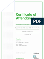 Applied Functional Science Certificate