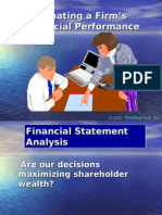 5.  Evaluating a Firm's Financial Performance(Ratio Analysis)