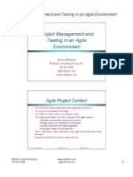 Project Management and Testing in an Agile Environment, 7-23-03