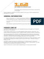 Dance Parade 2013 Spacer Guidelines