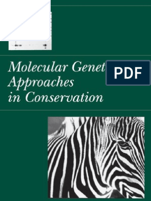 Molecular Genetics Conservation Species Molecular