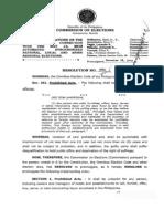 COMELEC Liquor Ban  Resolution 9582