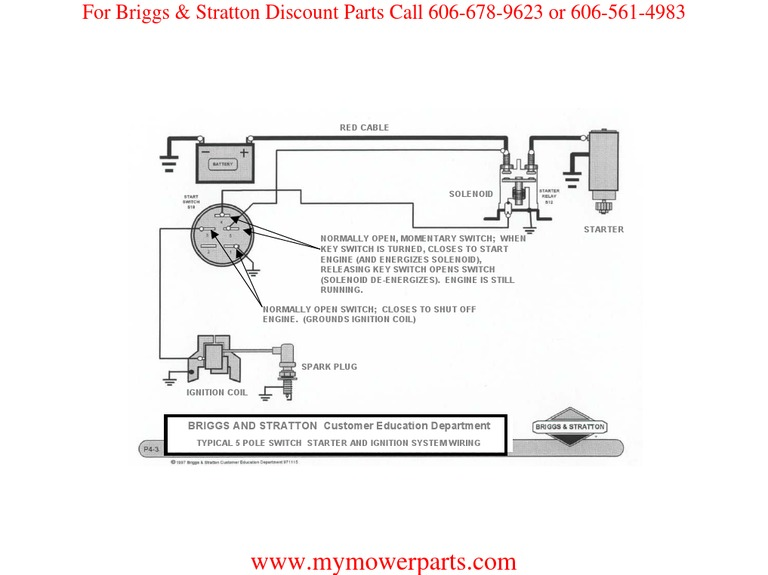 ignition wiring basic wiring diagram briggs stratton rh pt scribd com Briggs and Stratton 16 HP Engine Wire Diagram Briggs and Stratton Model44q777 3136 G5 Wire Diagrams