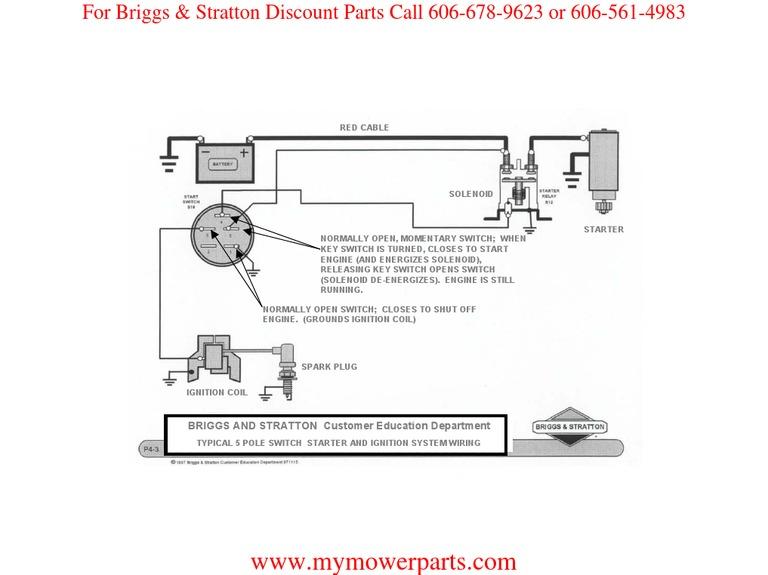 Ignition_wiring Basic Wiring Diagram BRIGGS & STRATTON | Ignition System |  Switch | 11 Hp Briggs And Stratton Wiring Diagram |  | Scribd