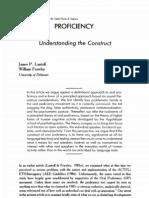 Lantolf & Frawley 1988 Proficiency - Understanding the Construct