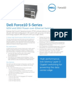 Dell Force10 S-Series 25V 50V Spec Sheet