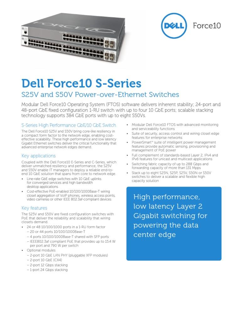 Force10 S50-01-GE-48T-AC 48-Port Switch w// S50-01-10GE-2P 2-Port 10GE XFP Module
