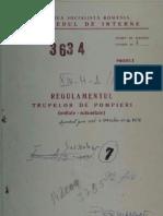 Regulamentul trupelor de pompieri - 1976