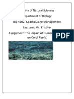Effect of Human Activity and Management Strategies of the Sri Lankan Coral Reefs.