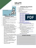 CMHS Sp 3 Final Exam Review Info