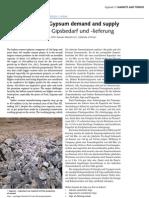 India Gypsum Demand Vs Supply