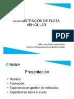01 Administración de Flota vehicular  - Presentación
