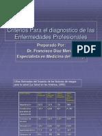 Criterios Para El Diagnostico de Las Enfermedades Profesiona