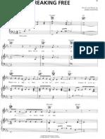 High School Musical - Breaking Free - Piano Sheet Music