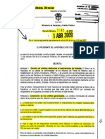 Decreto 1142 01-04-09 Condicionantes de Prestamos Mejoramiento de Vivienda
