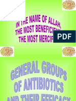 General Groups of Antibiotics,Their Efficacy by Abbas Khawaja UVAS Lahore, Pakistan +92 301 321 2009