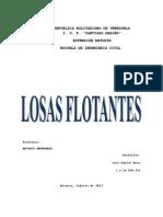 Losas flotantes o losas de cimentación
