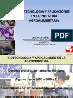 Biotecnologia y Aplicaciones en La Agroindustria