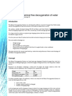 Effective and Chemical Free Deoxygenation of Water