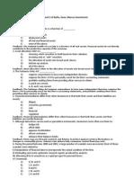 Financial Economics Bocconi Lecture 3 Practice Q WithA Chap1 and Chap2