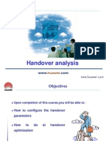Handover Analysis of 3G network