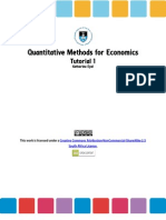 Quantitative Methods for Economics, Tutorial 1