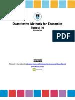 Introduction to Econometrics, Tutorial (5)
