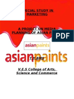 A Project on Media Planning of Asian Paints