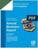 IRS Criminal Investigation Annual Report