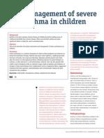 Severe Asthma Children