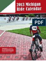 2013 Michigan Ride Calendar