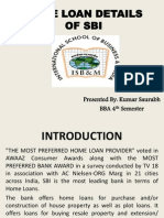 Home Loan Details of Sbi (Bba 4th Sem.)