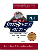 The Art of SpeedReading People - How to Size People Up and Speak Their Language