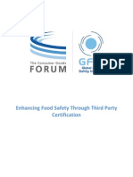 GFSI White Paper - Enhancing Food Safety Through Third Party Certification