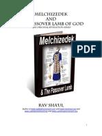 Melchizedek and Passover Lamb - Rav Shaul