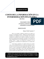Costos de La Informacion en La Intermdeacion Financ.