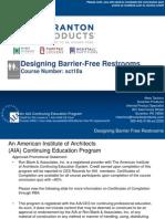 Barrier free design -rest rooms