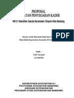 Proposal Penyegaran Kader Dan KB
