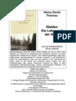 Walden - Ein Leben Mit Der Natur - Thoreau, Henry David