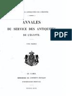 Daressy, Georges ASAE (1899)