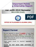 BBA and MBA(Credit)Internship-Fall2009-2010 Semester