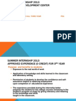 Fea 2013 Summer Internship