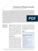 Diagnosis and Treatment of Plantar Fasciitis