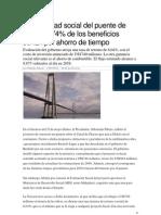 05 Rentabilidad Social Del Puente de Chacao