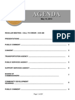 Agenda - May 14 2013