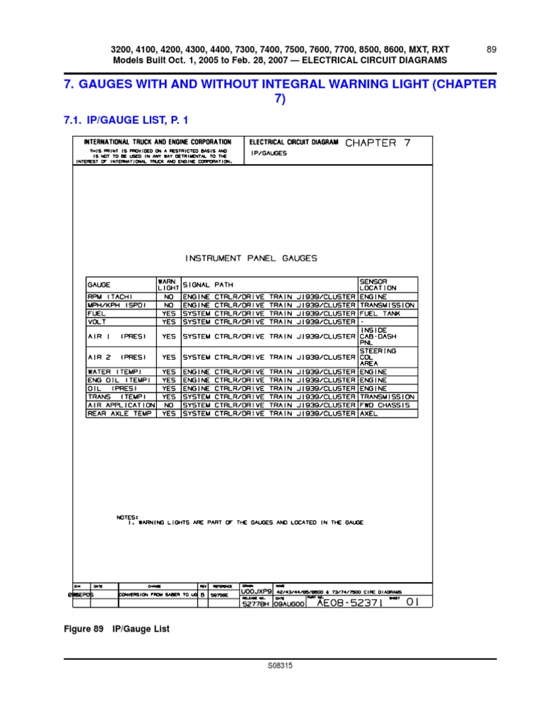 International 7300 Wiring Diagram 2000 4700 T444e Ke Body U0026chassis Diagrams And Infointernational 2
