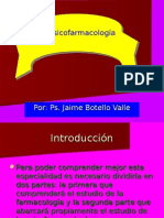 Psicofarmacologí­a. Ps. Jaime Botello Valle