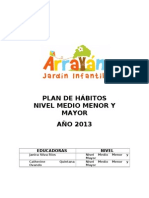 PLAN DE HÁBITOS MEDIO MENOR Y MAYOR ARRAYÁN