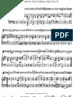 Koreli-  Violin Sonata No. 8 E-moll