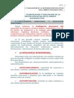 UD 5  Planificación y Evaluación de la Intervención Educativa en el Ámbito Socioafectivo